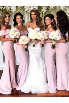 Mermaid Off-the-Shoulder Long Bridesmaid Dresses 3010315