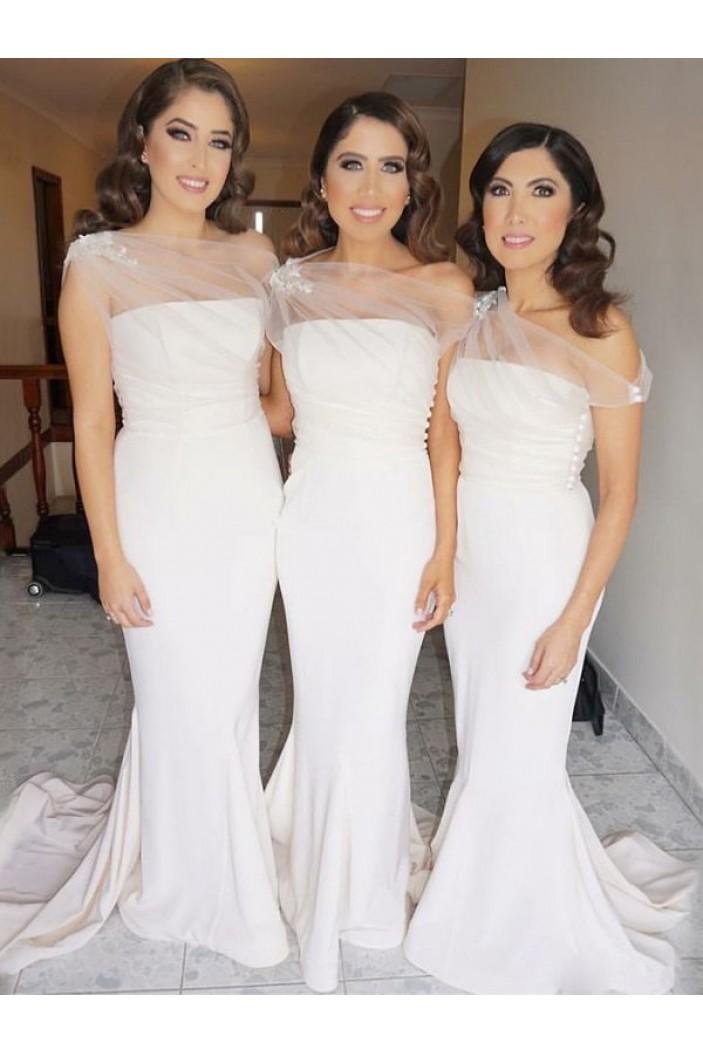 Mermaid Off-the-Shoulder Long Bridesmaid Dresses 3010319