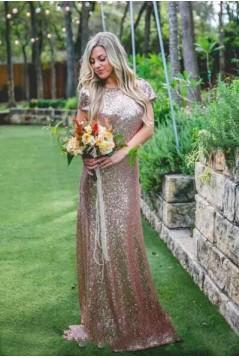 Long Sequins Bridesmaid Dresses 3010352