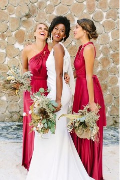 A-Line Long Bridesmaid Dresses 3010385