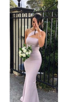 Mermaid One-Shoulder Floor Length Bridesmaid Dresses 3010421