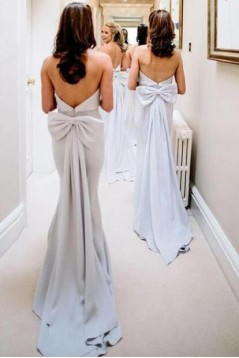 Mermaid Strapless Long Floor Length Bridesmaid Dresses 3010490