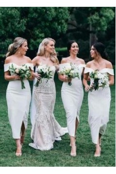 Sheath Off-the-Shoulder Bridesmaid Dresses 3010496