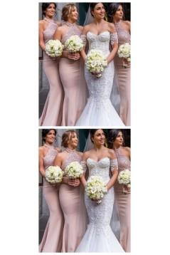 Mermaid Lace Long Floor Length Bridesmaid Dresses 3010517