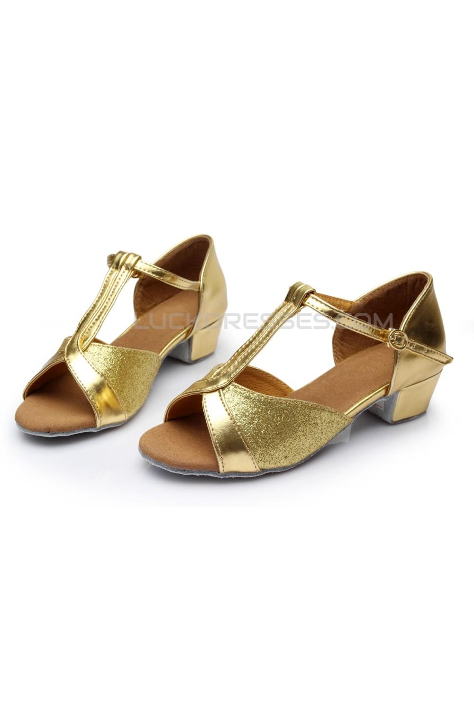 Kids Gold Formal Shoes