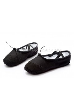 Women's Kids' Black Canvas Dance Shoes Ballet/Latin/Yoga/Dance Sneakers Canvas Flat Heel D601043