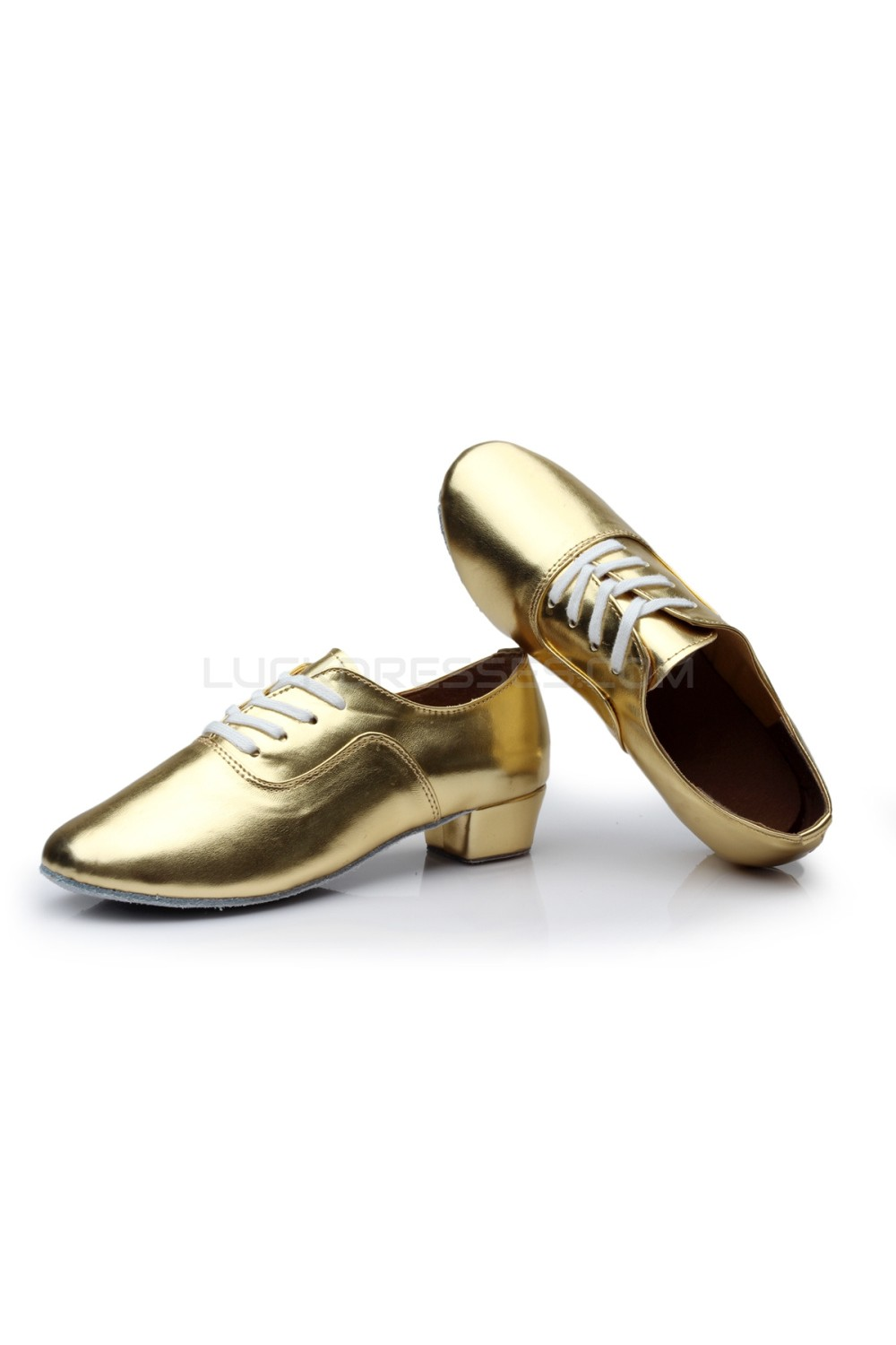 2e80ccf6e Men's Kids' Gold Leatherette Modern Ballroom Latin Dance Shoes Dance  Sneakers Flat Heel D603002