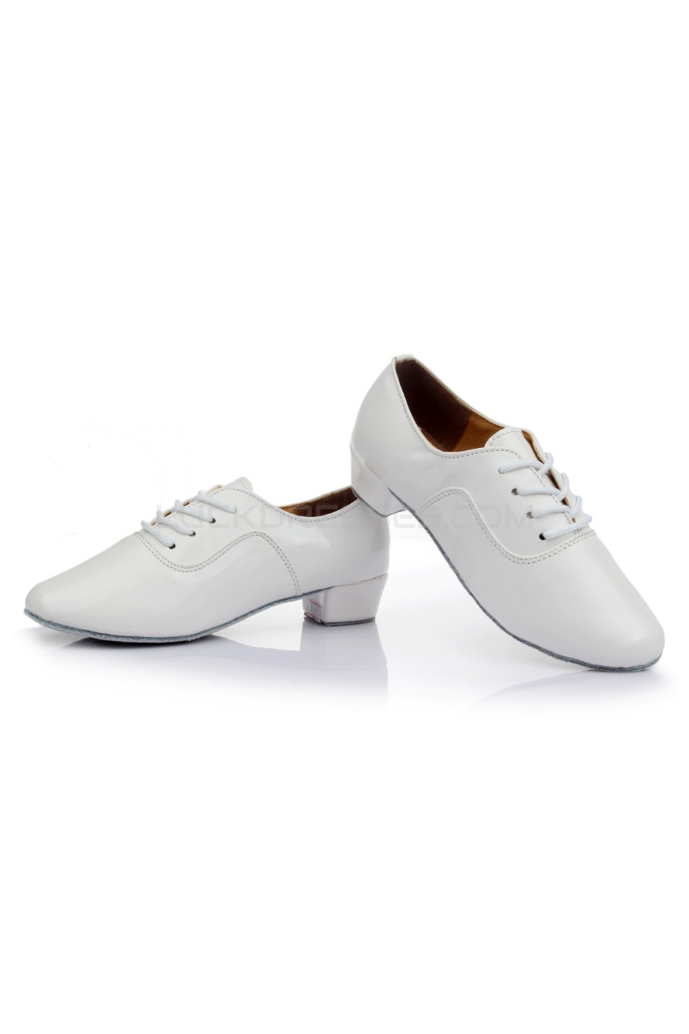 84a45a2fd Men's Kids' White Leatherette Modern Ballroom Latin Dance Shoes Dance  Sneakers Flat Heel D603003