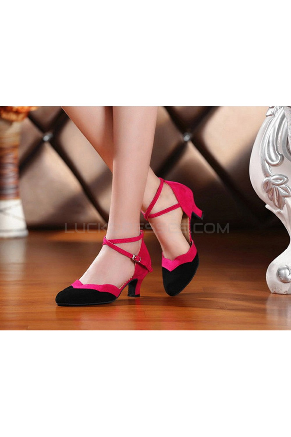 af0604a96 Women s Leatherette Heels With Ankle Strap Latin Ballroom Dance ...