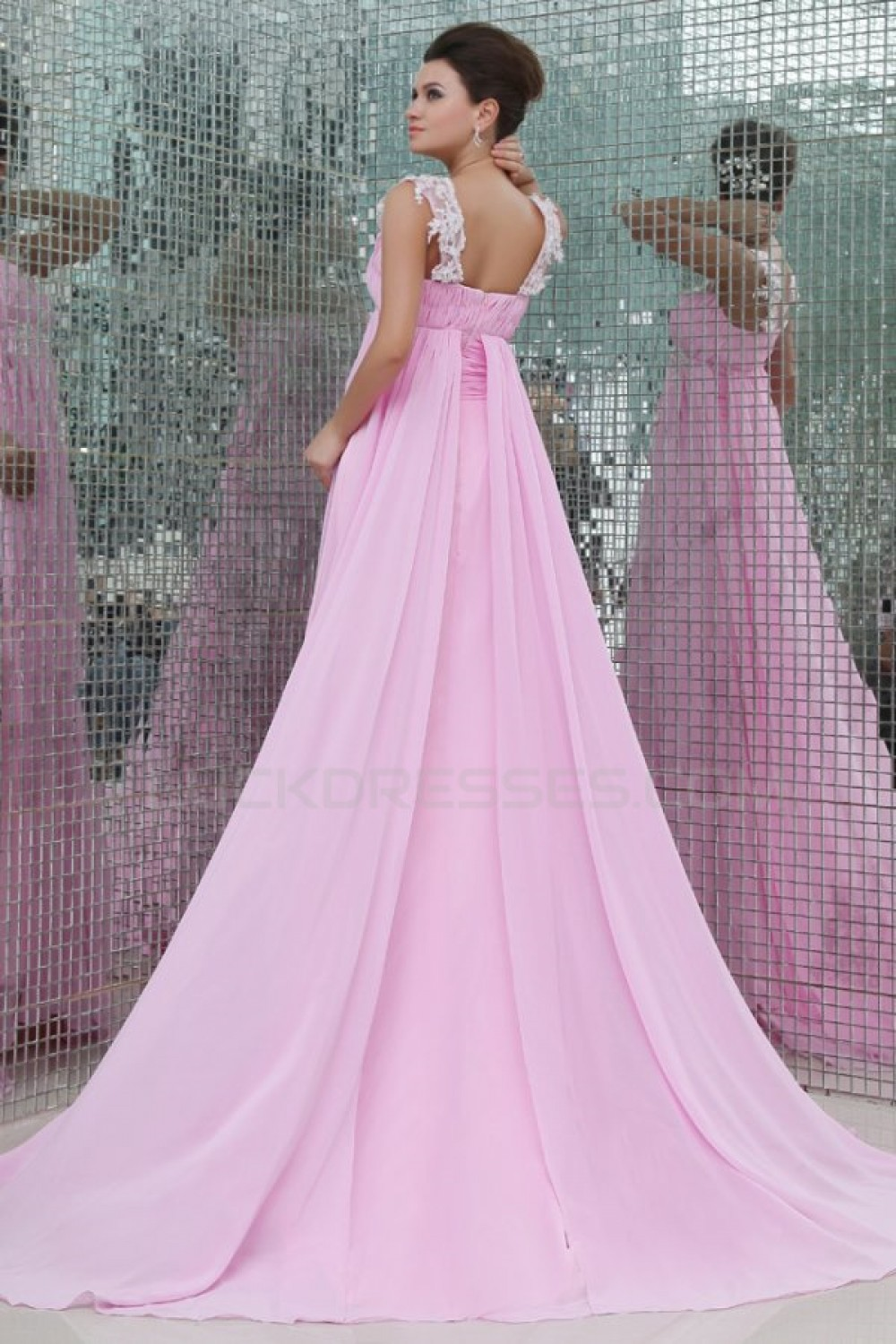 Pink chiffon prom evening formal party dressesmaternity evening long pink chiffon prom evening formal party dressesmaternity evening dresses ed010057 ombrellifo Images