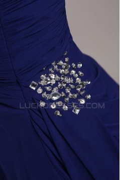 Sheath/Column Strapless Long Blue Chiffon Prom Evening Formal Party Dresses ED010070