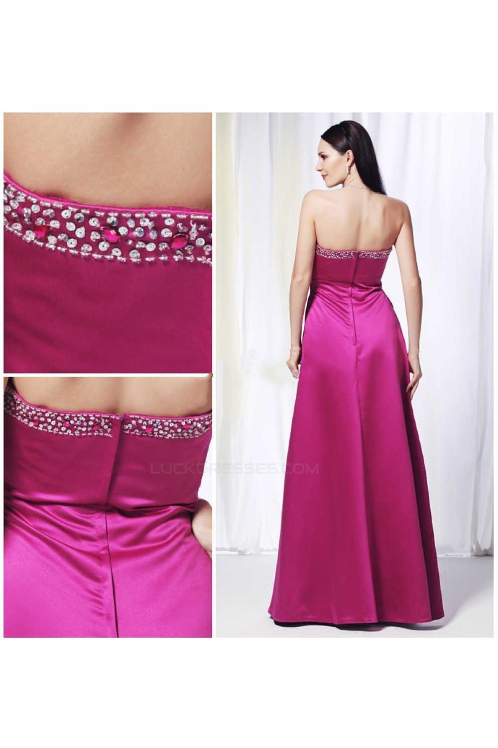 Empire Sweetheart Beaded Long Prom Evening Formal Dresses Maternity ...