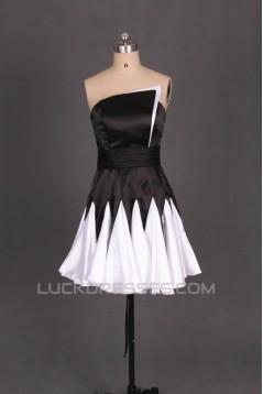 Short Black White Prom Evening Formal Dresses ED011095