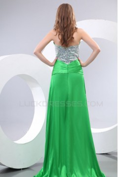 Long Green Sweetheart Chiffon Prom Evening Formal Party Dresses ED010113
