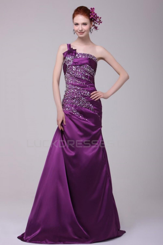 One Shoulder Purple Formal