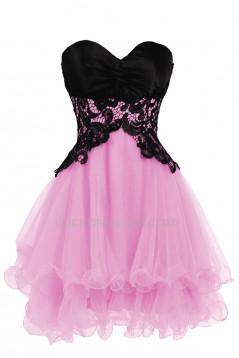 Modest Sweetheart Short Black Blue Prom Evening Cocktail Dresses ED011267