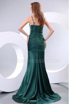 Trumpet/Mermaid One-Shoulder Long Prom Evening Formal Party Dresses ED010139