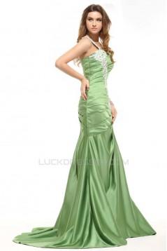 Trumpet/Mermaid One-Shoulder Long Prom Evening Formal Dresses ED011397