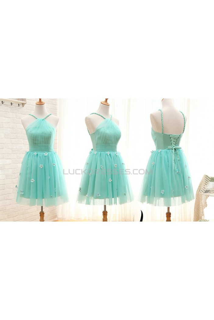 A-Line Short Tulle Prom Evening Formal Bridesmaid Dresses ED011576