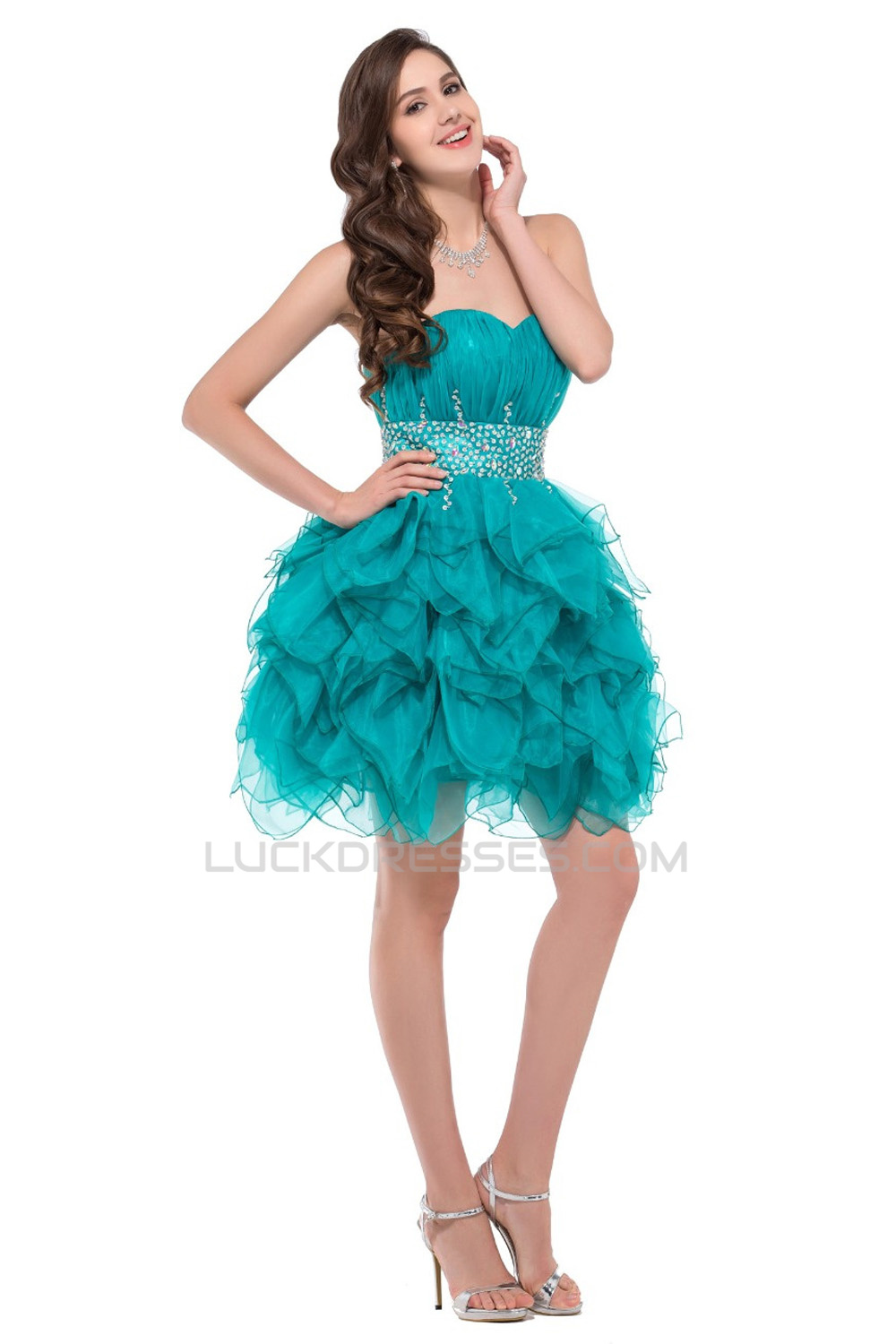 Sweetheart Short Prom Evening Cocktail Dresses ED011664