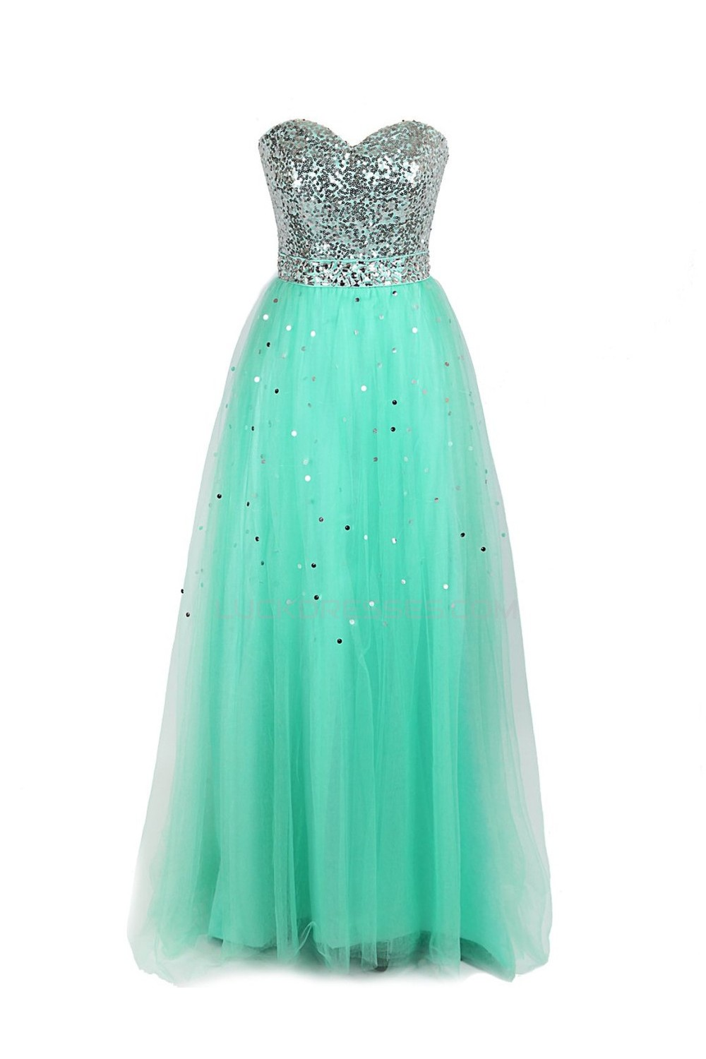 Line Sweetheart Sequin Long Prom Evening Formal Party Dresses ED010271