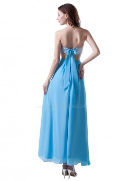 Strapless Long Sequin Chiffon Prom Evening Formal Party Dresses ED010273