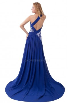 One-Shoulder Beaded Yellow Chiffon Prom Evening Formal Party Dresses ED010304
