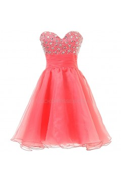 A-Line Sweetheart Beaded Short Prom Evening Formal Party Dresses ED010354