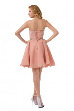 A-Line Sweetheart Beaded Short Chiffon Prom Evening Formal Party Dresses ED010491