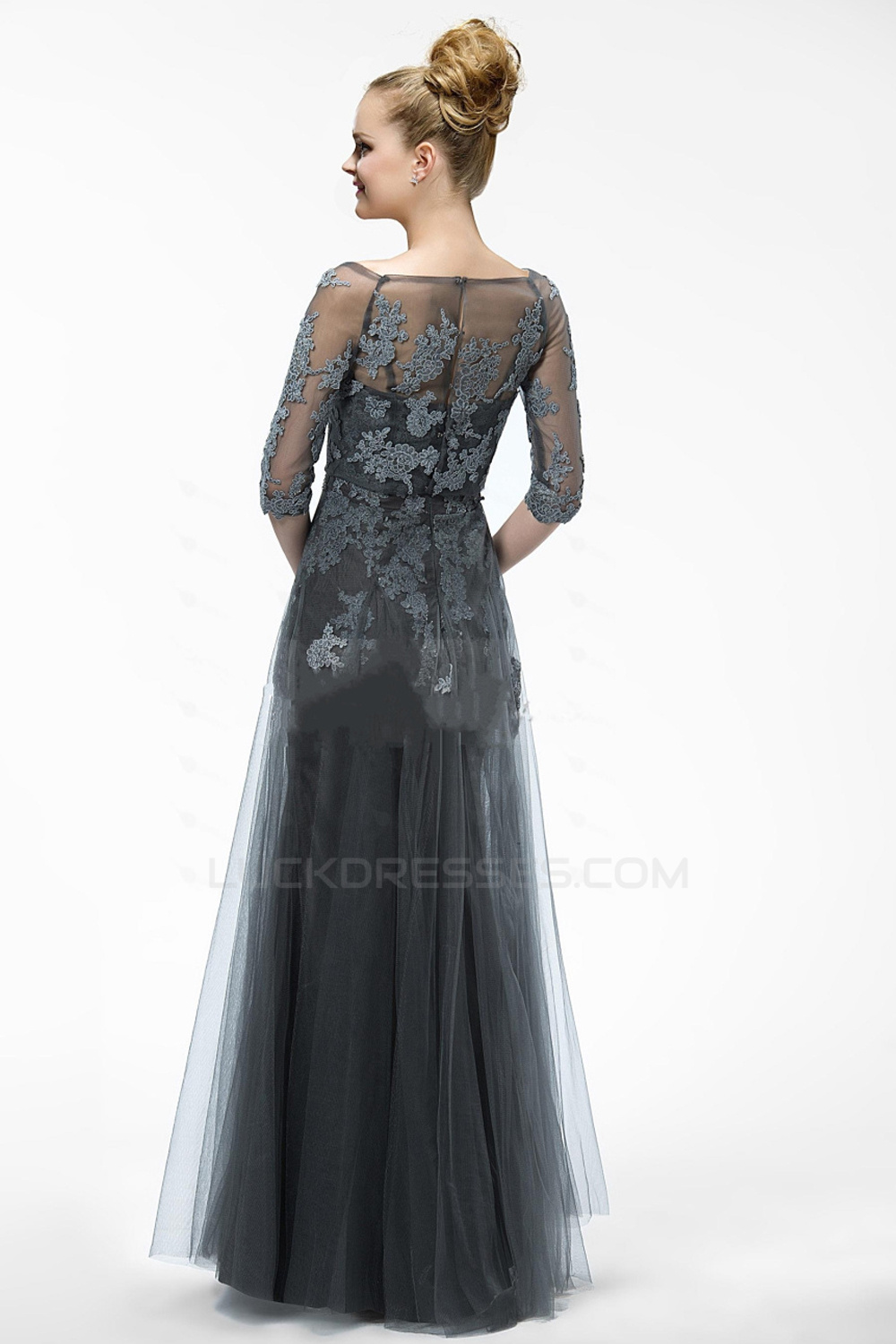 cb8482ee05c Elegant Long Tulle and Applique Prom Evening Formal Party Dresses Mother Of  The Bride Dresses ED010552