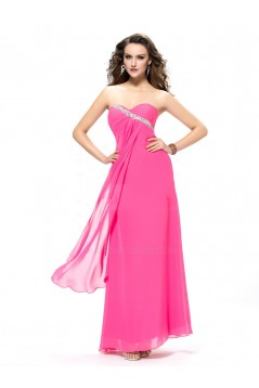 Sweetheart Beaded Long Chiffon Prom Evening Formal Party Dresses ED010571