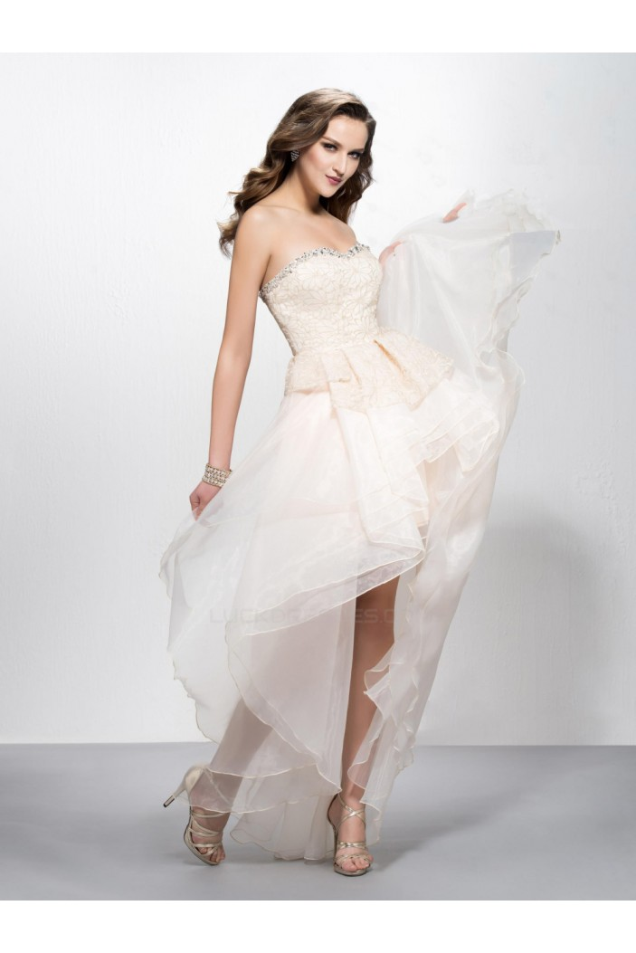 High Low Beaded Prom Evening Formal Party Dresses ED010575