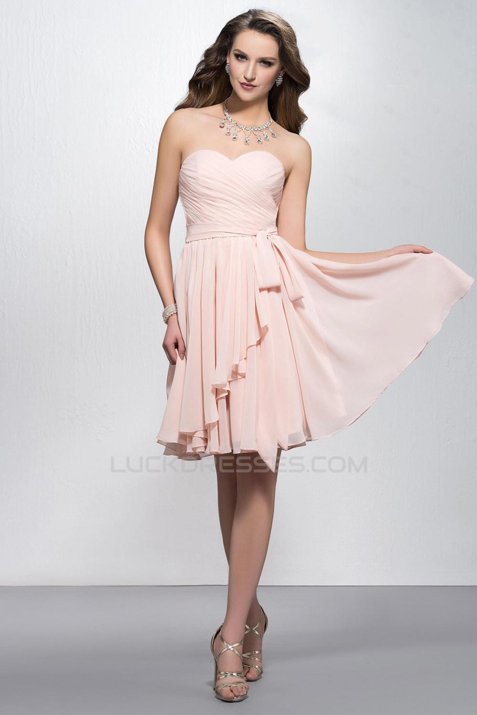 Short Chiffon Evening Dresses