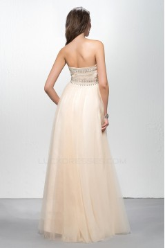 Empire Sweetheart Beaded Long Chiffon Prom Formal Dresses Maternity Evening Dresses ED010604