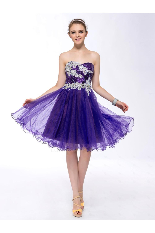 Purple Sequin Party Dresses
