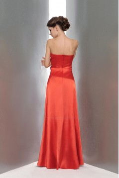A-Line Strapless Beaded Long Red Prom Evening Formal Party Dresses ED010656