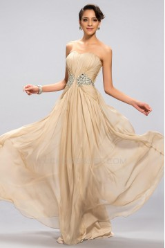 A-Line Sweetheart Beaded Long Chiffon Prom Evening Formal Party Dresses ED010678