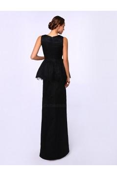 Elegant Long Black Lace Prom Evening Formal Party Dresses ED010716