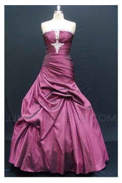 Strapless Long Sequin Prom Evening Formal Party Dresses ED010730