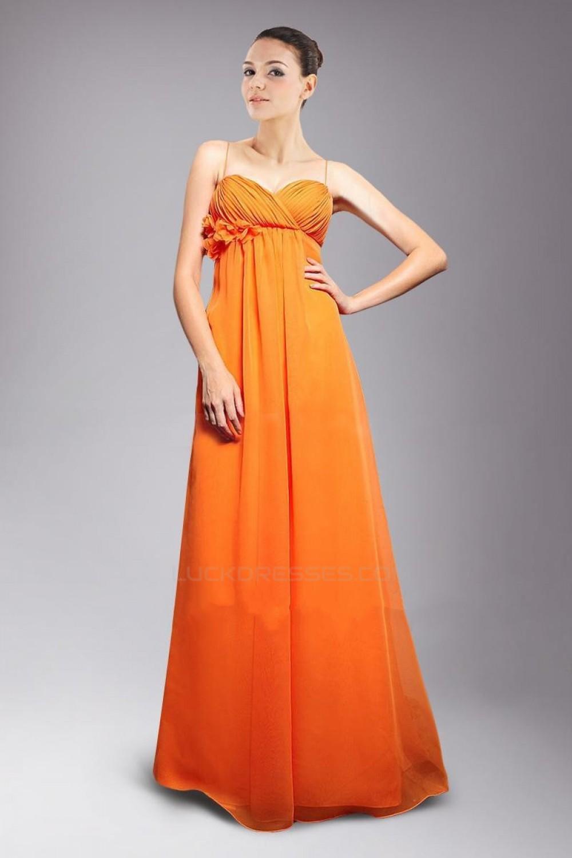 Empire Spaghetti Strap Long Chiffon Prom Evening Dresses Maternity ...