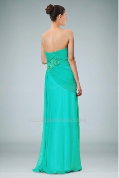 A-Line Strapless Long Chiffon Prom Evening Formal Dresses ED010894