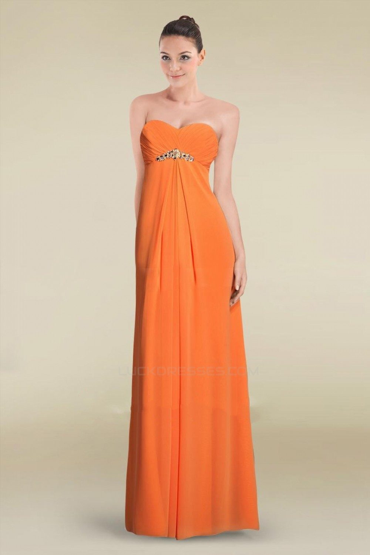 88e03939af3c0 Empire Sweetheart Long Chiffon Prom Evening Formal Dresses ...