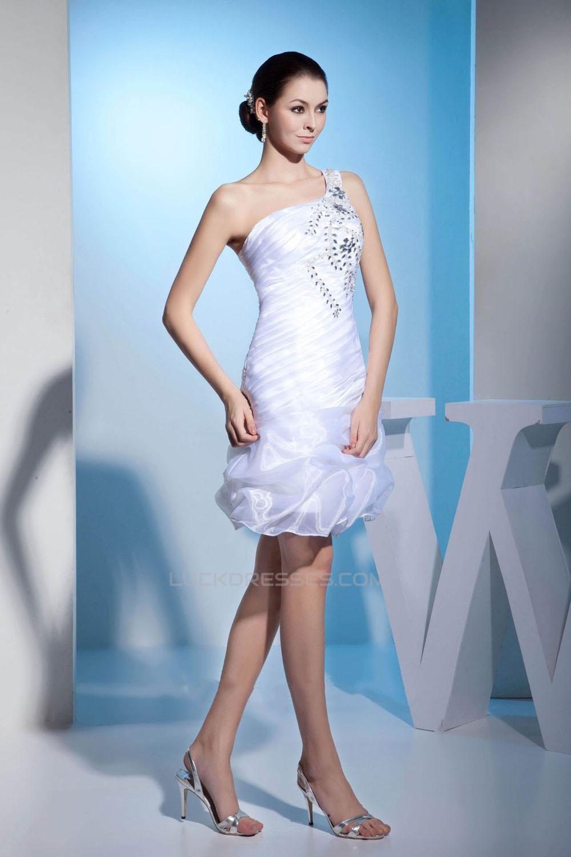 White Beaded Prom Evening Formal Dresses ED010937