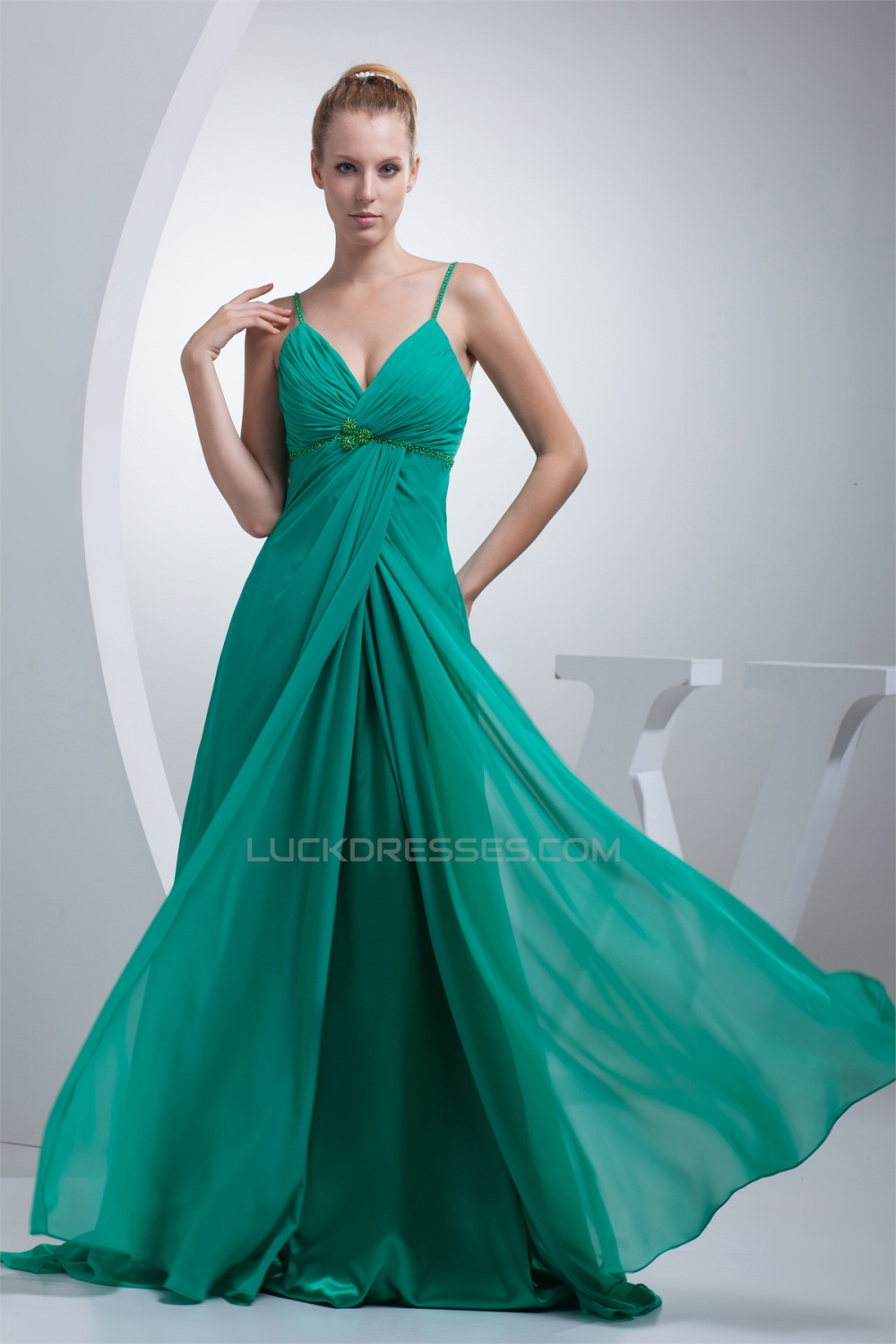 Line chiffon spaghetti strap long green promformal evening a line chiffon spaghetti strap long green promformal evening maternity dresses 02020014 ombrellifo Image collections