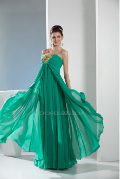 Empire Spaghetti Strap Chiffon Long Prom/Formal Evening Dresses Maternity Evening Dresses 02020041