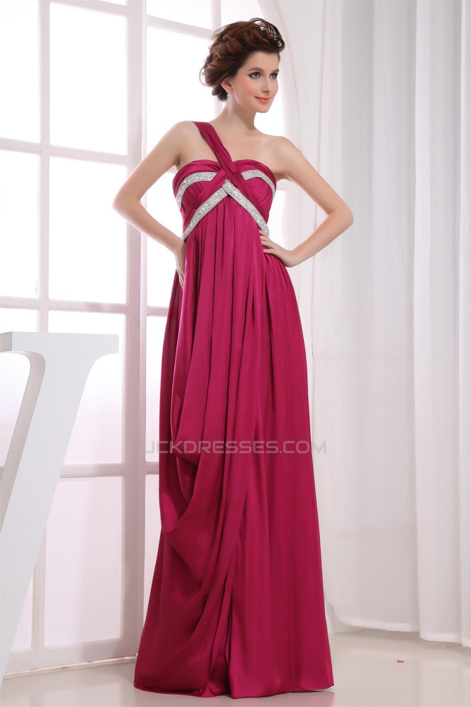 Beading Empire One-Shoulder Long Prom/Formal Evening Dresses ...