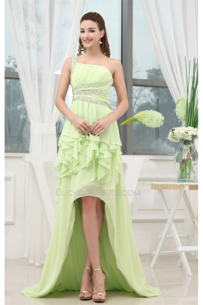 Affordable High Low Beading Sleeveless Chiffon Prom/Formal Evening Dresses 02020092