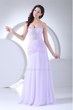 Beading Sweetheart A-Line Sleeveless Chiffon Prom/Formal Evening Dresses 02020101