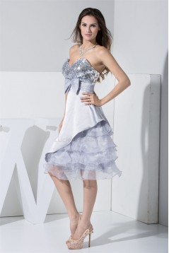 A-Line Knee-Length Bows Sleeveless Sweetheart Prom/Formal Evening Dresses 02021021