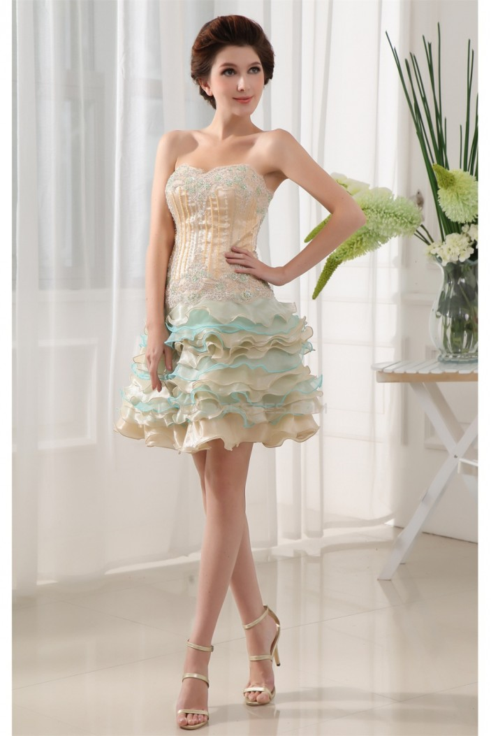 Beading Sleeveless Short/Mini Sweetheart Prom/Formal Evening Dresses 02021054